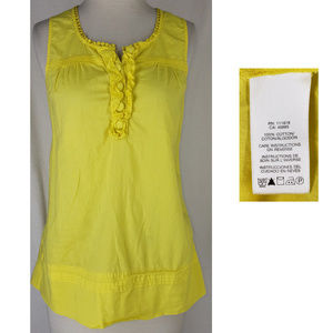 Michael Kors yellow bohemian sleeveless blouse top